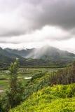 Allerta della valle di Hanalei in Kauai, Hawai Immagini Stock