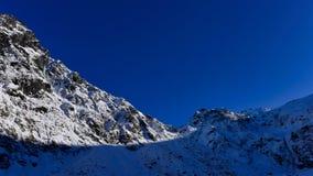 Allerta della valle di Hollyford che offre una vista scenica delle montagne della neve Immagine Stock