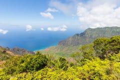 Allerta della valle di Kalalau, Kauai, Hawai Immagine Stock