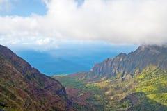Allerta della valle di Kalalau - Kauai, Hawai Immagine Stock
