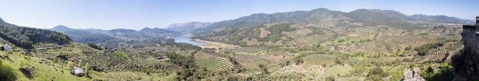Allerta di Aguilon, Hornos de vista di Segura, fiume di Guadalquivir, Jaen fotografia stock libera da diritti