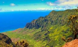 Allerta di Kalalau, costa Hawai del Na Pali Immagine Stock