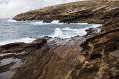 Allerta di Lanai, O& x27; ahu, Hawai& x27; i Fotografie Stock