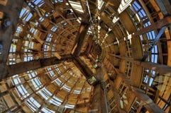 Allerta di legno della struttura Immagine Stock