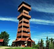 Allerta di legno sulla collina di Velky Javornik Fotografia Stock