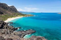 Allerta di Makapuu su Oahu, Hawai Fotografie Stock