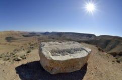 Allerta di Ramon del cratere in deserto di Negev. Immagini Stock Libere da Diritti
