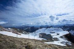 allerta di Rochers-de-Naye Station From Fotografie Stock Libere da Diritti