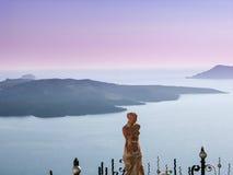 Allerta di Santorini Fotografie Stock