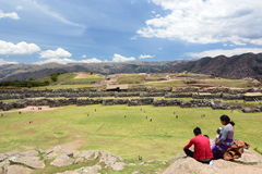 Allerta di Saqsaywaman Cusco peru Immagini Stock Libere da Diritti
