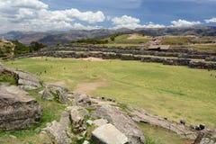 Allerta di Saqsaywaman Cusco peru Fotografie Stock