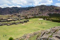 Allerta di Saqsaywaman Cusco peru Fotografie Stock Libere da Diritti
