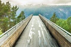 Allerta di Stegastein e del fiordo in Norvegia Fotografie Stock