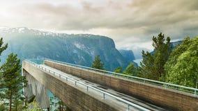 Allerta di Stegastein e del fiordo in Norvegia Fotografia Stock Libera da Diritti