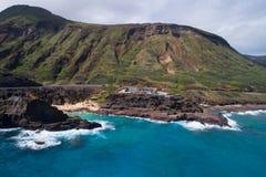 Allerta Hawai della soffiatura di Oahu Fotografia Stock Libera da Diritti