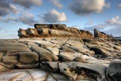 Allerta rocciosa dell'oceano Fotografia Stock Libera da Diritti