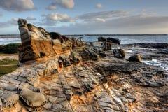 Allerta rocciosa dell'oceano Fotografia Stock
