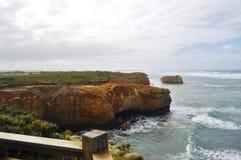 Allerta scenica della grande strada dell'oceano Fotografie Stock Libere da Diritti