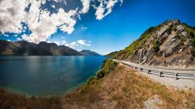 Allerta scenica della scala del diavolo, Queenstown, Nuova Zelanda Fotografie Stock Libere da Diritti