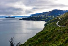 Allerta scenica di bluff di Bennetts in Nuova Zelanda Fotografia Stock Libera da Diritti