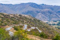 Allerta scenica nella giunzione della freccia, Nuova Zelanda Immagine Stock