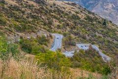 Allerta scenica nella giunzione della freccia, Nuova Zelanda Fotografia Stock Libera da Diritti