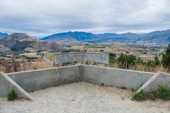 Allerta scenica nella giunzione della freccia, Nuova Zelanda Fotografia Stock