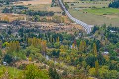 Allerta scenica nella giunzione della freccia, Nuova Zelanda Fotografie Stock