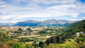 Allerta scenica sulla strada della gamma della corona in Nuova Zelanda Fotografie Stock Libere da Diritti