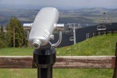 Allerta turistica fantastica del binocolo Fotografia Stock Libera da Diritti