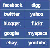 Alles facebook Stockfotografie