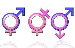 Alles Geschlechtssymbol Stockbild