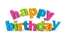 Alles Gute zum Geburtstag. Lizenzfreie Stockfotografie