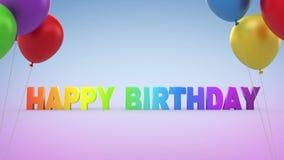 Alles Gute zum Geburtstag stock video footage