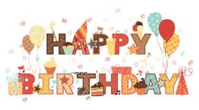 Alles Gute zum Geburtstag! Stockfotografie
