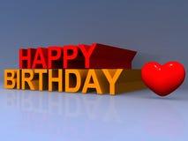 Alles Gute zum Geburtstag lizenzfreie abbildung