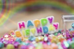 Alles Gute zum Geburtstag, abstrakter Hintergrund stockfoto