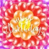 Alles Gute zum Geburtstag auf Hintergrund von den bunten Ballonen Stockfotos