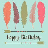 Alles Gute zum Geburtstag in boho Art Lizenzfreies Stockbild