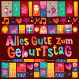 Alles Gute zum Geburtstag Deutsch German Happy birthday Stock Images