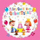 Alles Gute zum Geburtstag Deutsch German Happy birthday greeting card Stock Photo