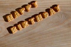 Alles Gute zum Geburtstag Essbare Buchstaben Stockbild