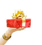 Alles Gute zum Geburtstag - Geben eines Geschenks Stockfotos