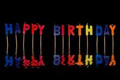 Alles Gute zum Geburtstag getrennt lizenzfreie stockfotografie
