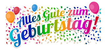 Alles Gute zum Geburtstag - Happy Birthday Vector. Eps10 Vector Stock Images