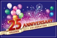 Alles Gute zum Geburtstag 25 Jahre lizenzfreie abbildung