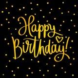 Alles Gute zum Geburtstag Moderne Kalligraphie Stockfotografie