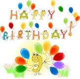 Alles Gute zum Geburtstag neun Lizenzfreies Stockbild