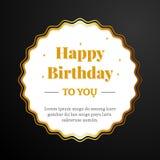 Alles Gute zum Geburtstag Papierkartenschablone mit gewelltem Kreisrahmen Lizenzfreie Stockfotos