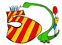 Alles Gute zum Geburtstag Sie alle 5 Jahre alte Jungen Stockbilder